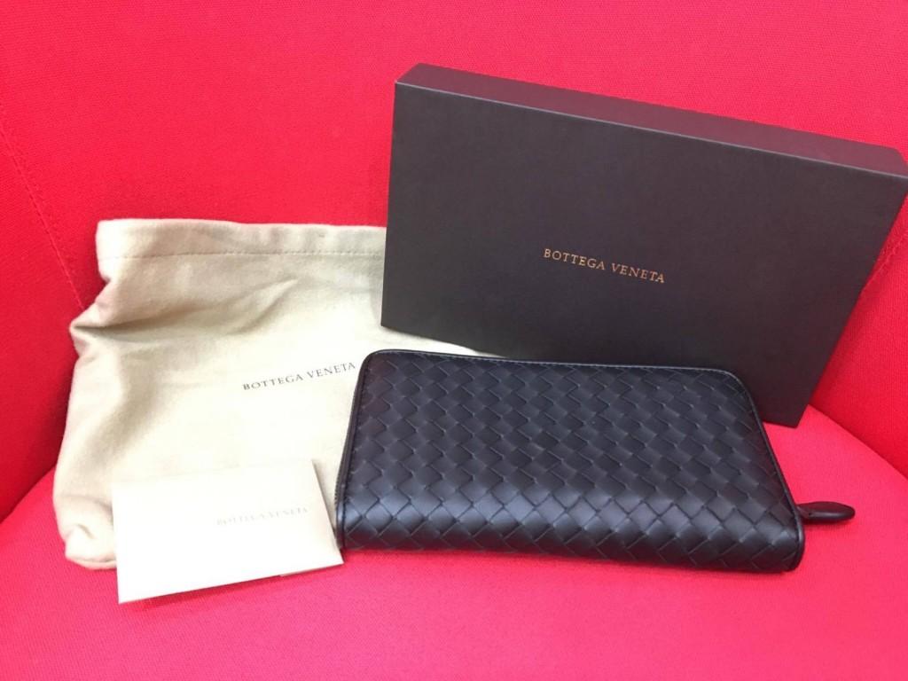 Bottega Veneta小羊皮拉鍊長夾收購