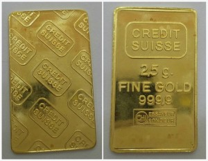 CREDIT-SUISSE黃金條塊