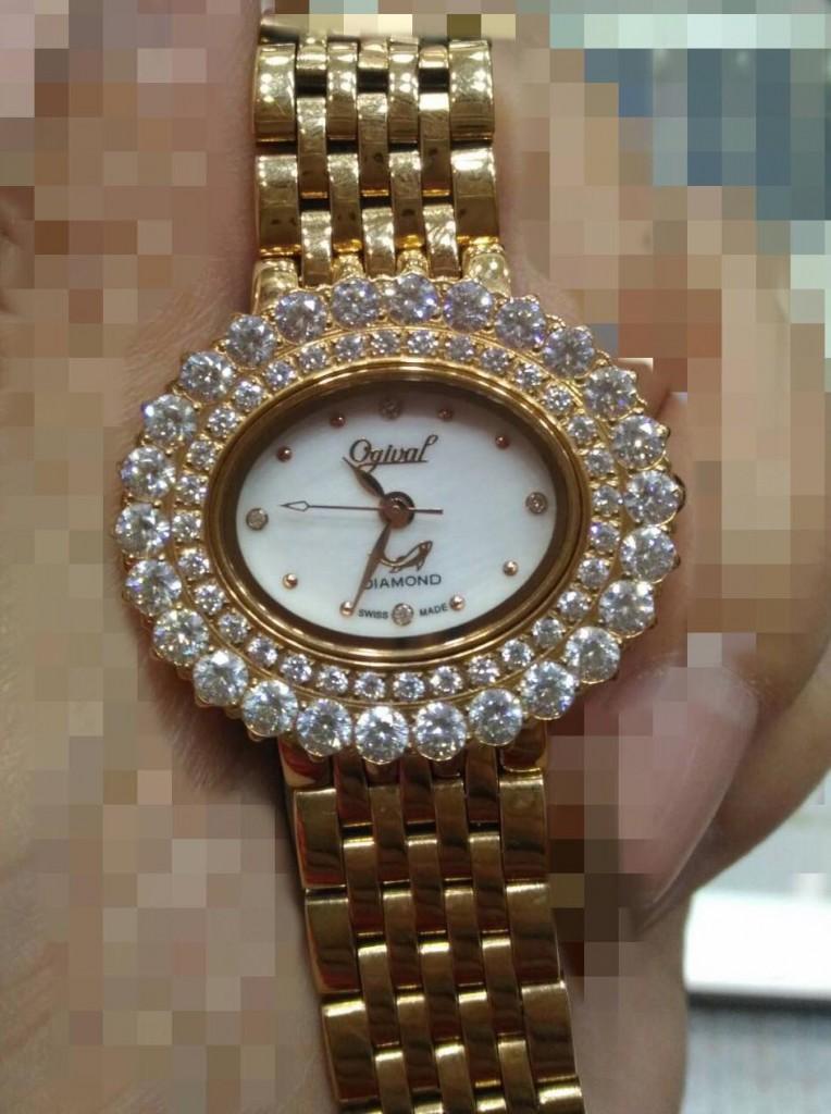 OGIVAL 愛其華石英女錶
