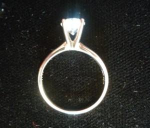 50分舊式車工的鑽石戒指回收