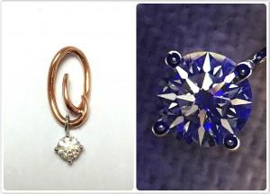 玫瑰金30分鑽石吊飾收購