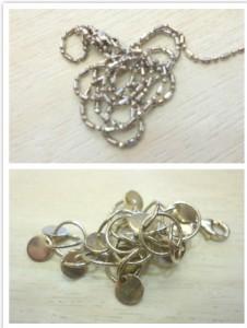 白K金項鍊與銀飾手鍊收購