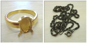 K金戒指與銀飾項鍊回收