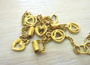 黃金愛心造型手鍊收購