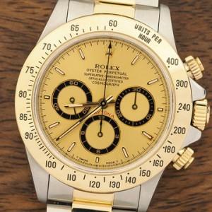 勞力士Rolex 金面Daytona K金不鏽鋼16523 腕錶回收