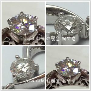 鑽石與摩星鑽外觀顏色區別 JEWEL CAFE