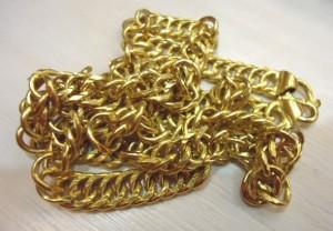 麻花造型黃金項鍊
