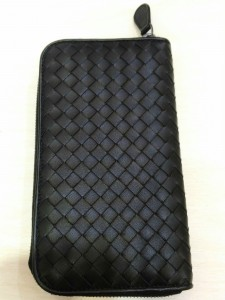 Bottega Veneta 黑色編織長夾 收購分享