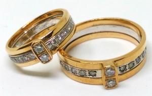 雙色K金 鑽石 對戒 回收