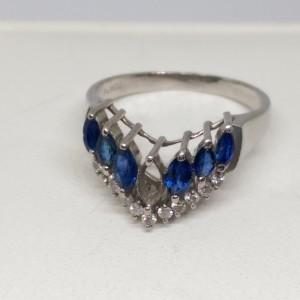 0829_16藍寶鑲鑽戒指