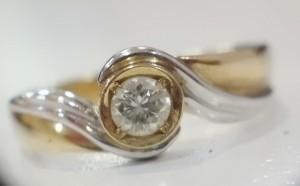 雙色k金鑽戒diamond
