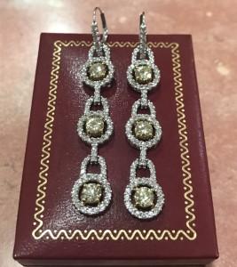 0.36ct鑽石耳環