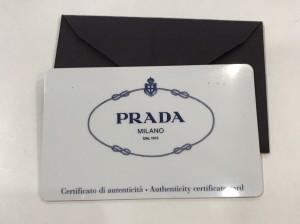 PRADA防刮牛皮扣式藍皮夾保卡