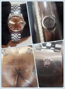 玫瑰金錶盤鑲鑽ROLEX勞力士男錶