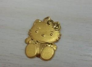 回收kitty黃金墜子1