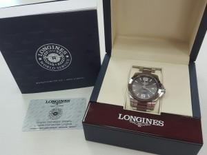 浪琴LONGINGS 康卡斯CONQUEST 型號L3.657.4 機械手錶收購