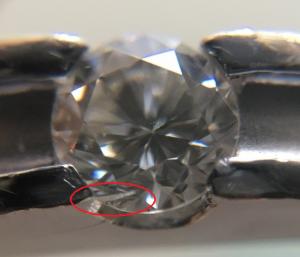 有裂紋的20C分鑽石戒指1