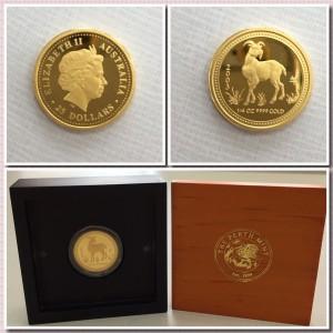 澳洲柏斯鑄幣局2003羊年紀念金幣
