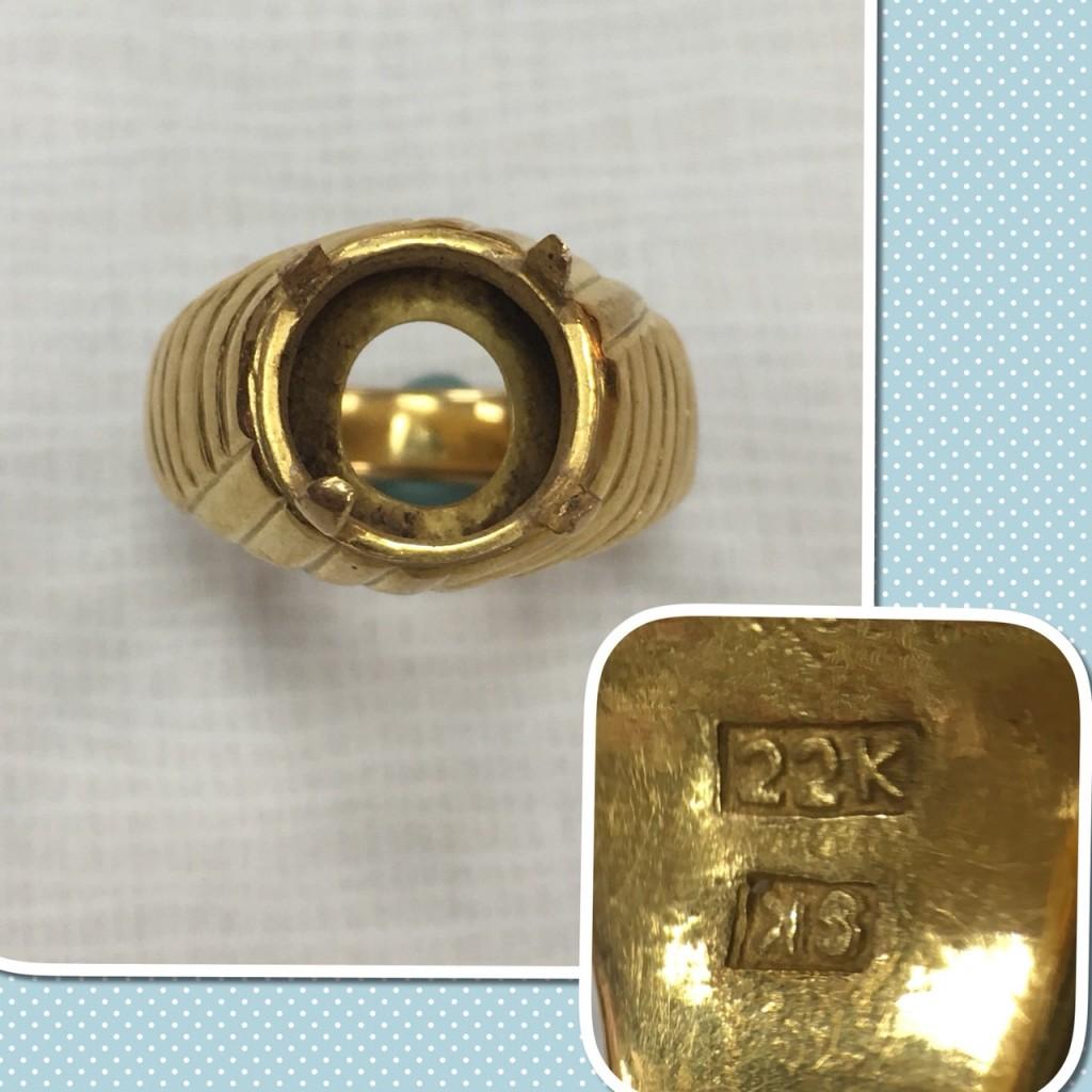 22K 金戒指