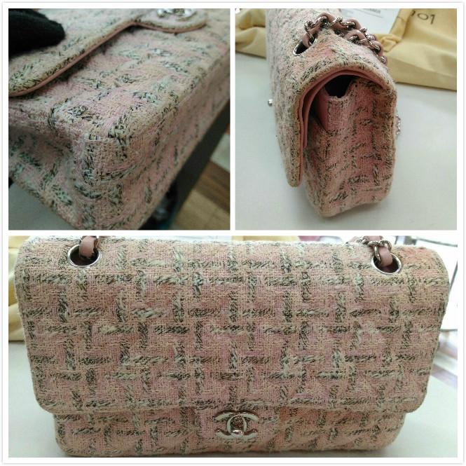 粉色軟呢小香包