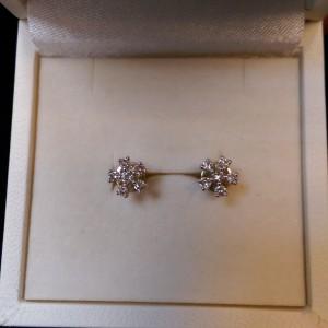 收購K金鑽石耳環-