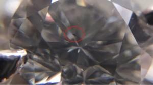 0.50CT鑽石戒指內含物
