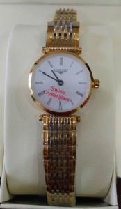 浪琴石英女錶
